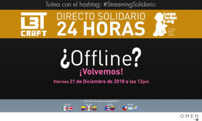 Streaming Solidario HP OMEN L3TCraft