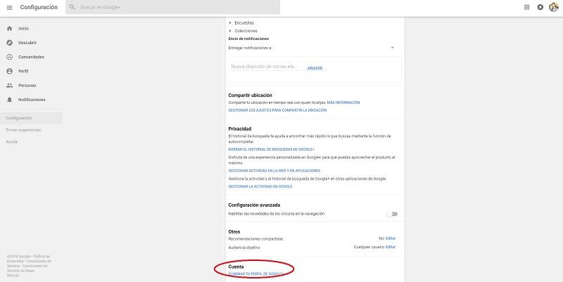 Cómo eliminar tu perfil de Google + de forma sencilla y rápida 29