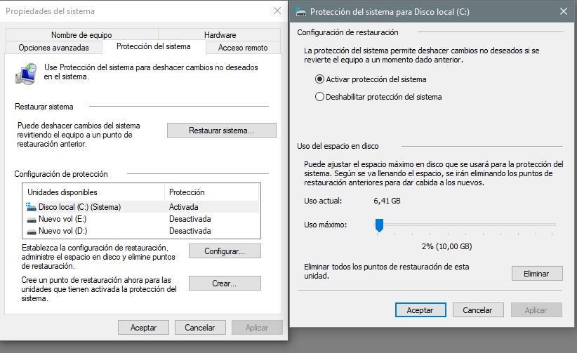 Cómo crear un punto de restauración del sistema en Windows 10 31