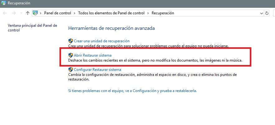 Cómo crear un punto de restauración del sistema en Windows 10 35