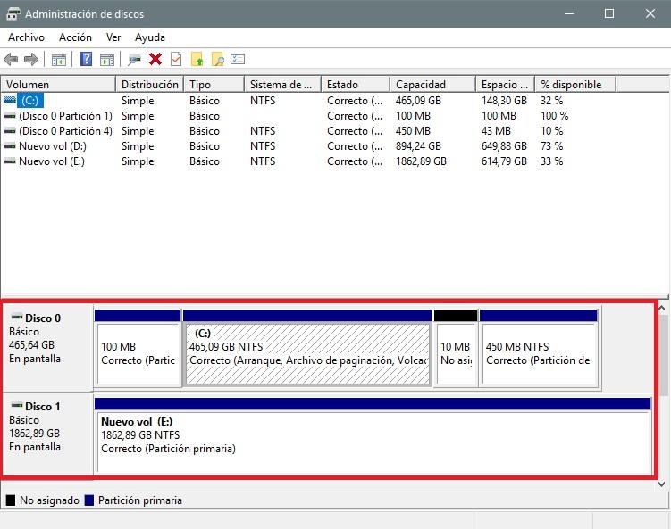 Cómo identificar una nueva unidad de almacenamiento con Windows 32