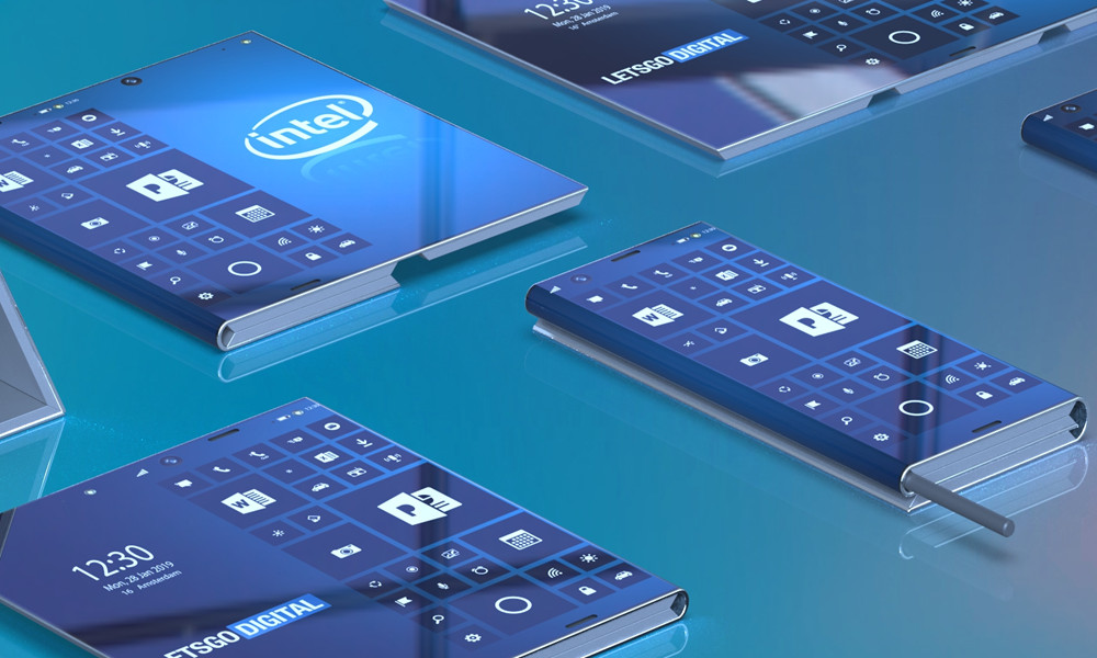 dispositivo plegable con Windows Intel
