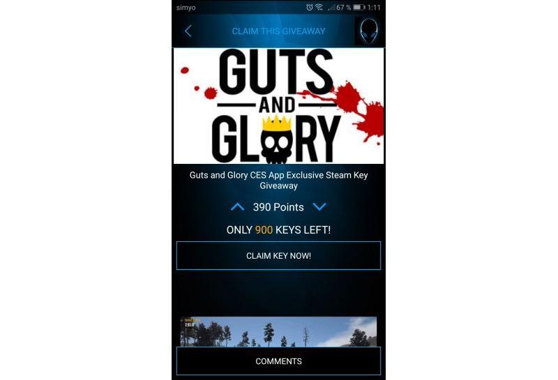 Guts and Glory Alienware Gratis