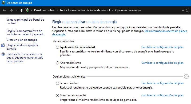 Cómo habilitar el plan de energía de máximo rendimiento en Windows 10 33