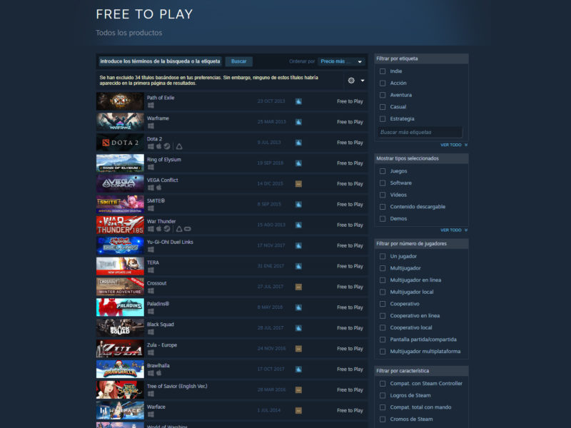 Steam Juegos Indie