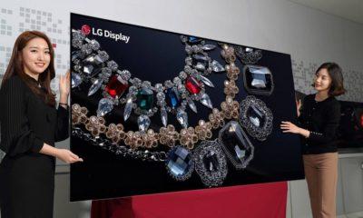 LG presenta pantalla OLED de 88 pulgadas con sonido integrado 77