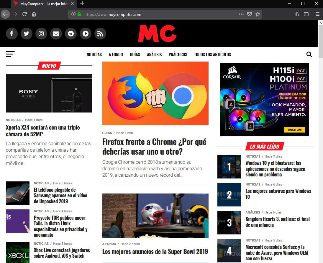 Firefox frente a Chrome