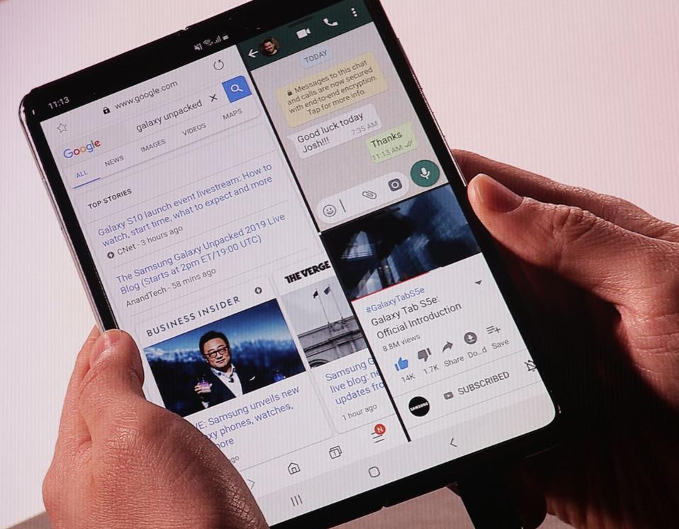 Samsung presenta el smartphone plegable, Galaxy Fold 37