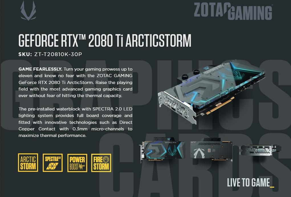 Zotac sube el listón con la GeForce RTX 2080 Ti ArcticStorm 33