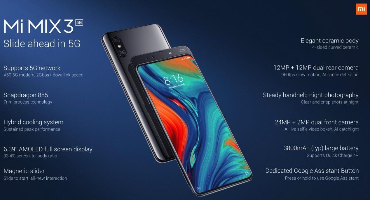 Xiaomi presenta Mi Mix 3 5G, su primer smartphone para redes 5G 31