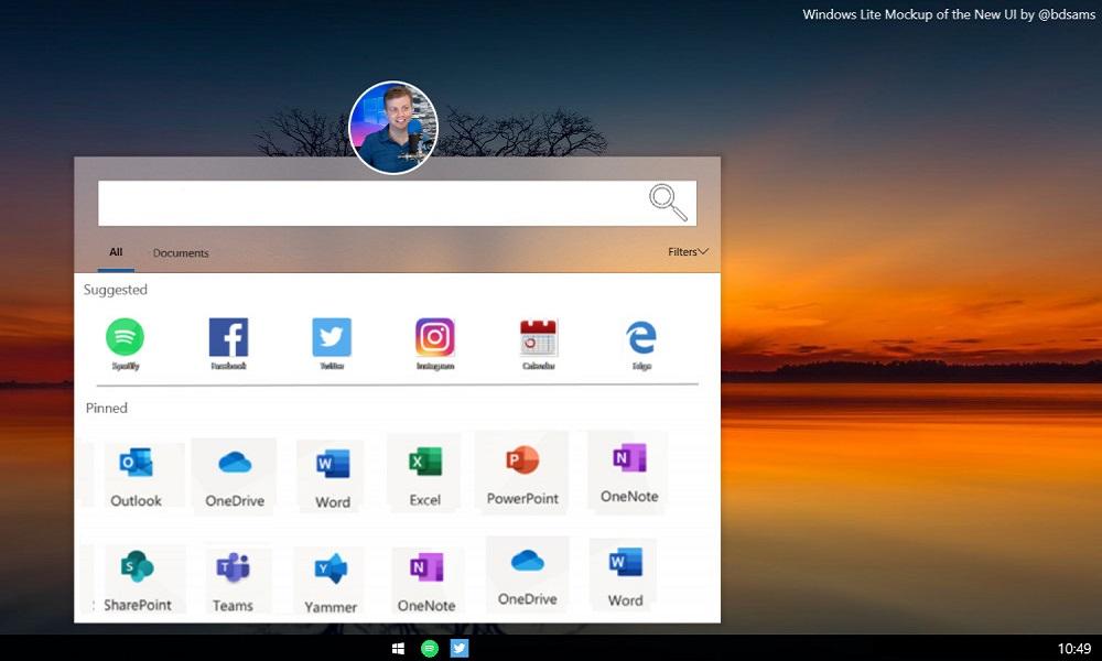 Así es la interfaz de Windows Lite, el próximo rival de Chrome OS 32