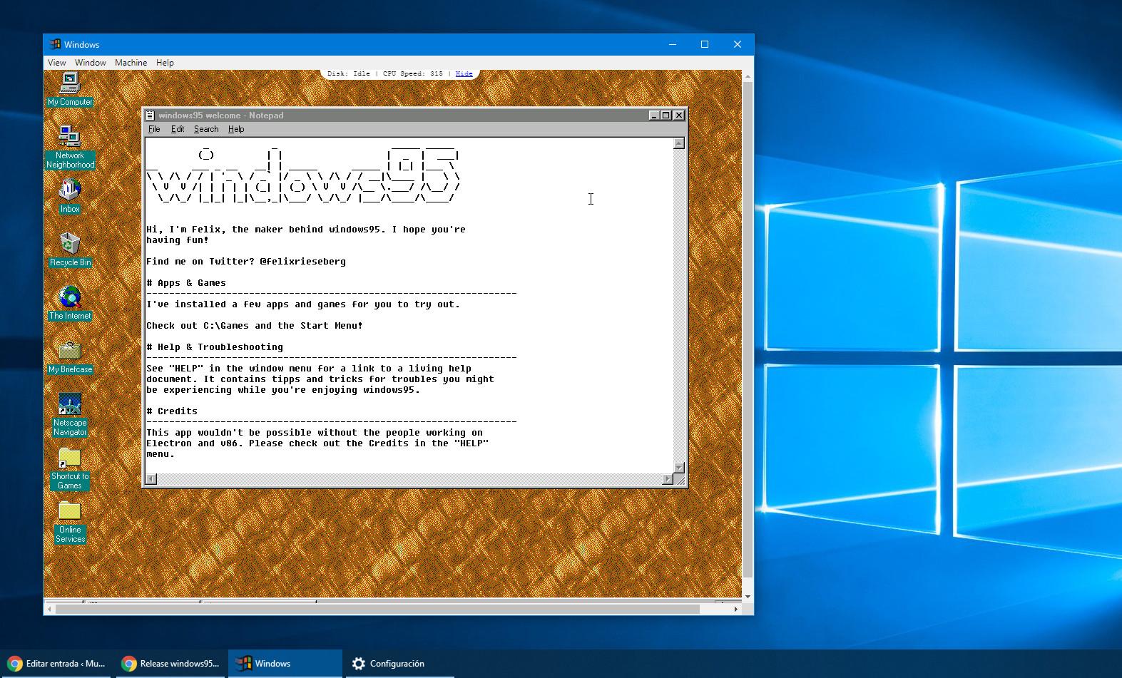 Windows 95 para PC