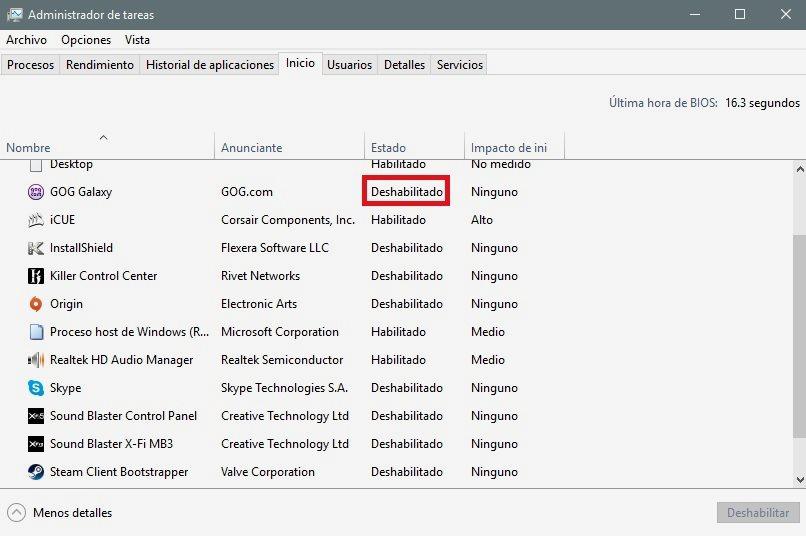 Cómo liberar memoria RAM en Windows 10 39