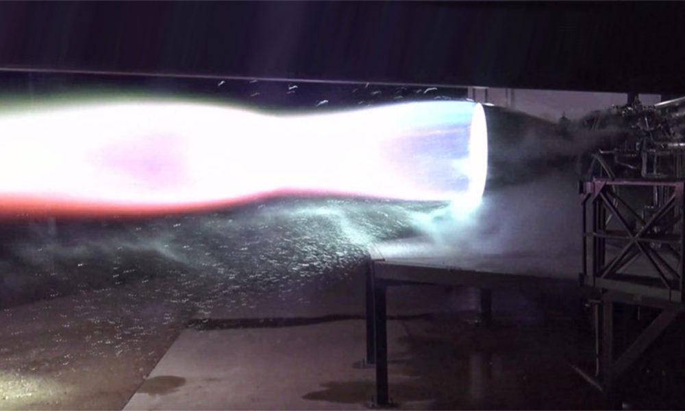 spacex raptor motor prueba marte