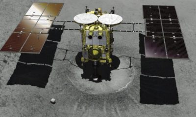Inmortalizado el encuentro de la sonda Hayabusa 2 y el asteroide Ryugu 33