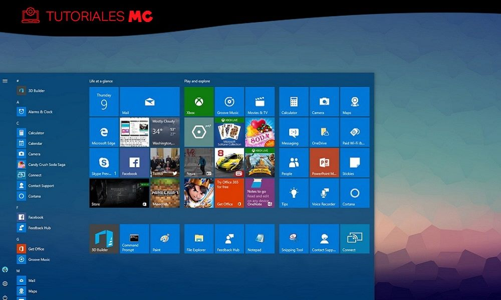 Windows 10 limpio