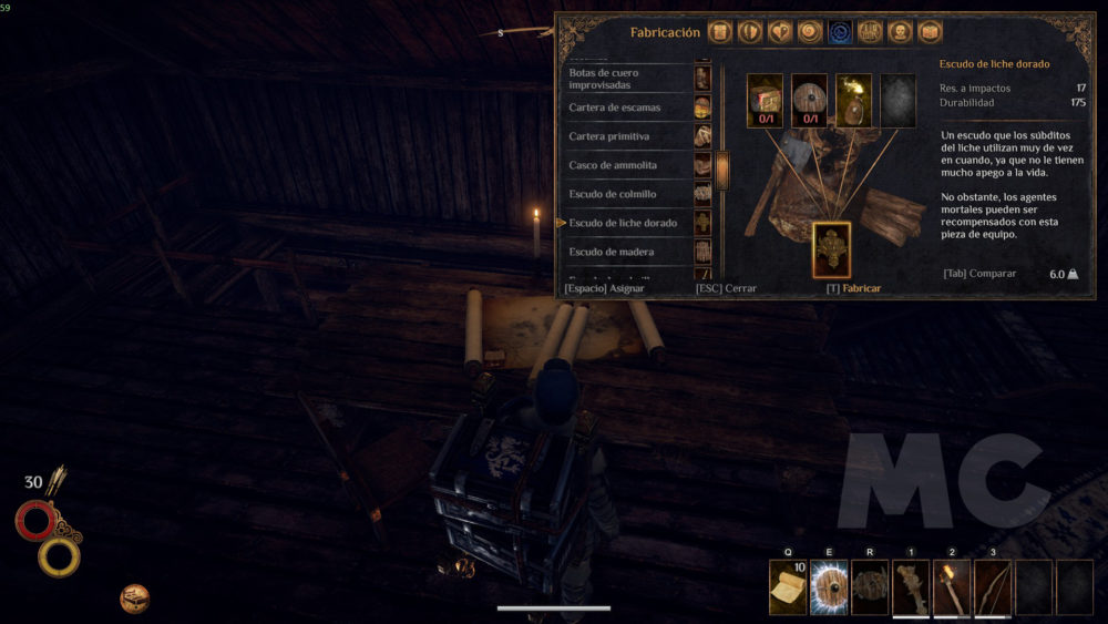 Análisis Outward PC Crafting