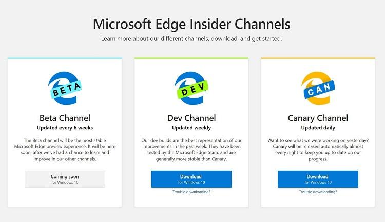 Ya puedes probar Microsoft Edge Chromium 30