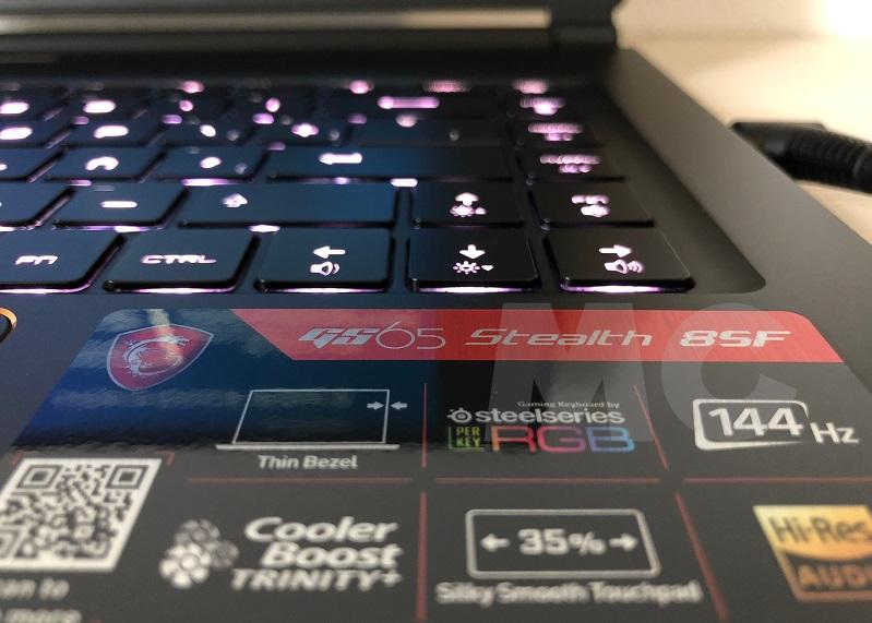 MSI GS65 Stealth 8SF, analisis: alto rendimiento con un peso contenido 71