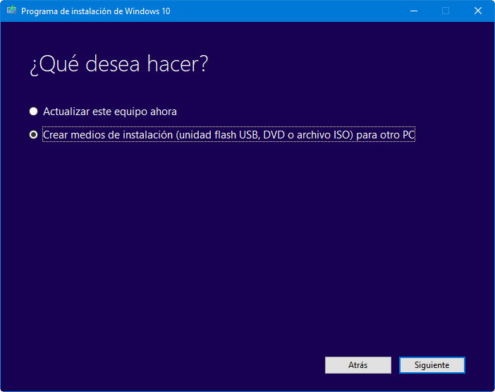 Windows 10 May 2019 Update en máquina virtual