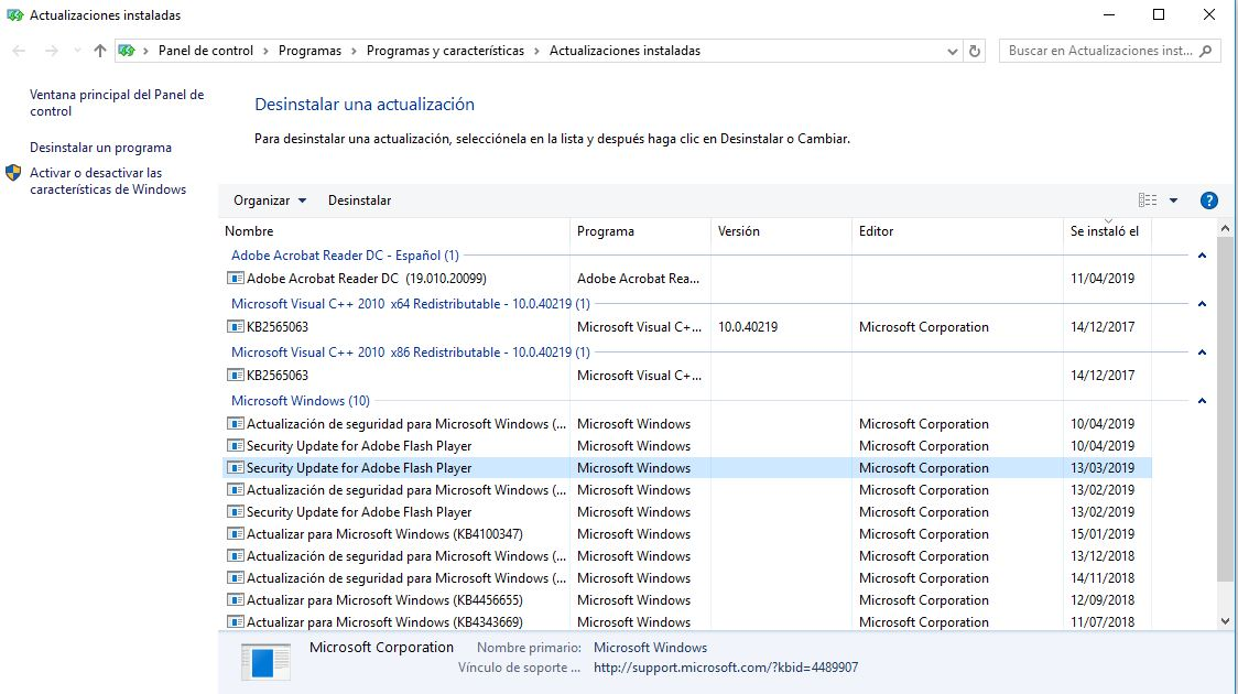 Cómo desinstalar una actualización de Windows 10 30