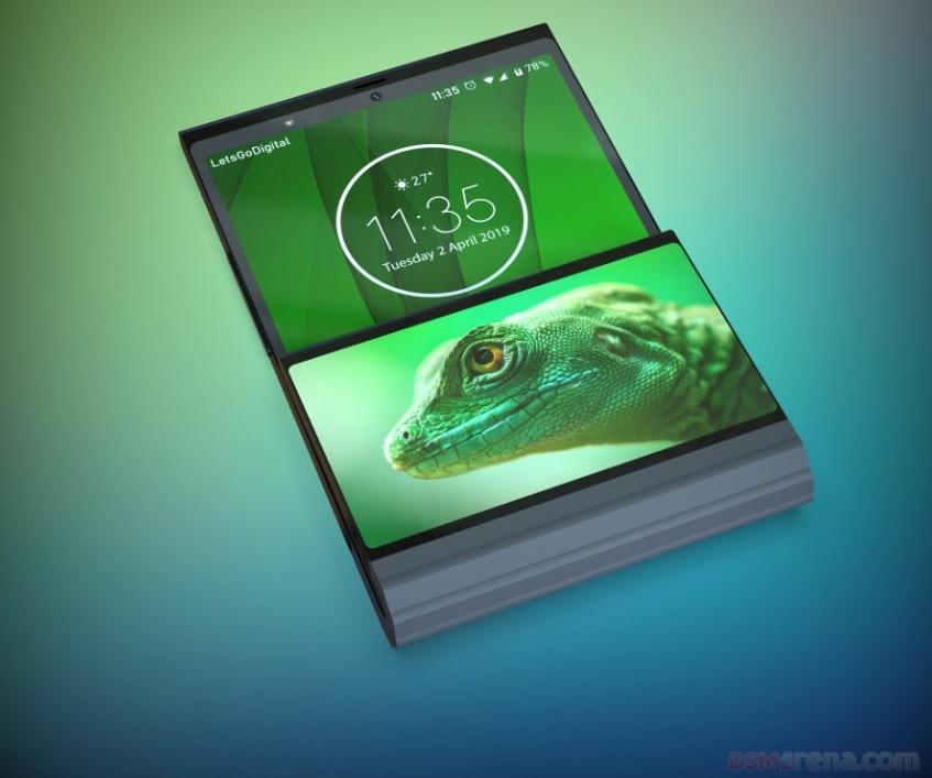 Lenovo patenta smartphone flexible con doble pantalla que se dobla en vertical 31