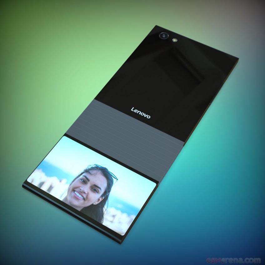 Lenovo patenta smartphone flexible con doble pantalla que se dobla en vertical 33