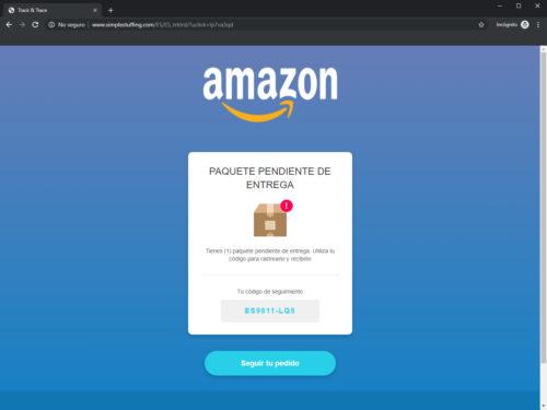 Amazon Estafa Phising Web