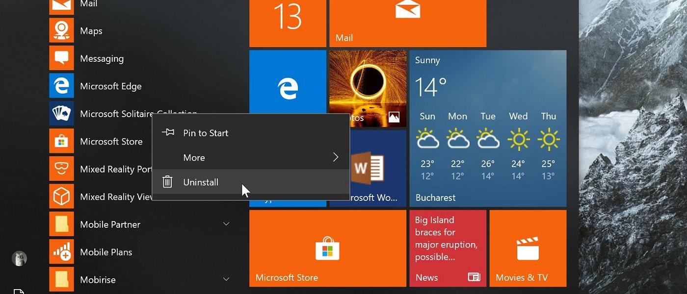 Windows 10 tiene un problema con el bloatware 32