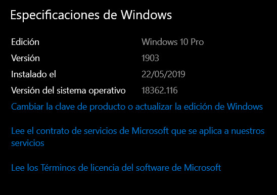 Ya está disponible Windows 10 May 2019 Update: Instalación y novedades 35