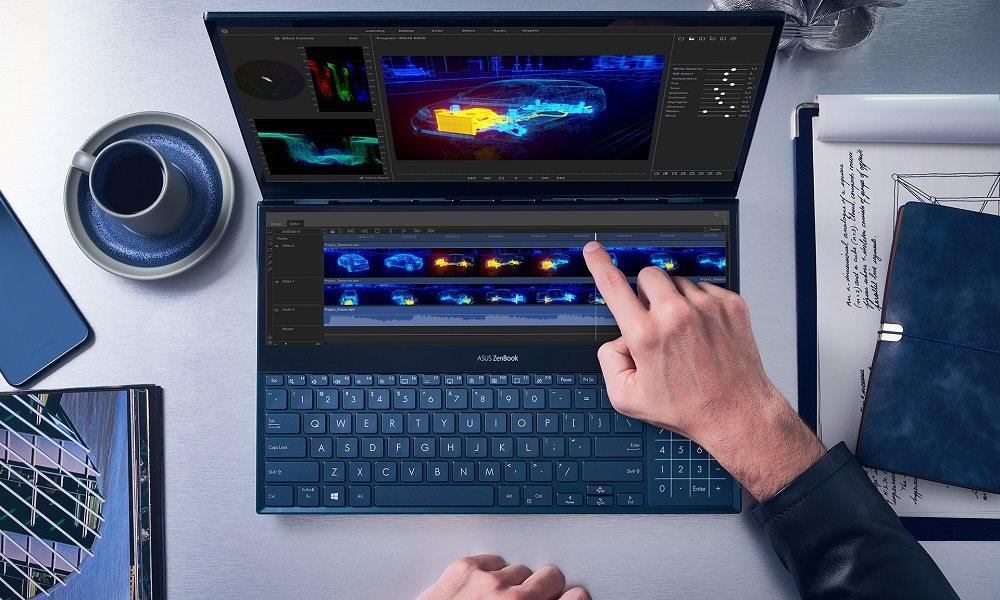 ASUS presenta nuevos portátiles ZenBook Duo y monitor portátil para gaming 32