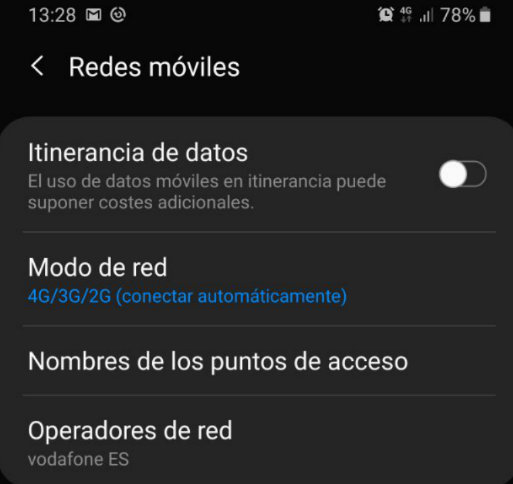 Cómo se gestionan los APN en Android 38