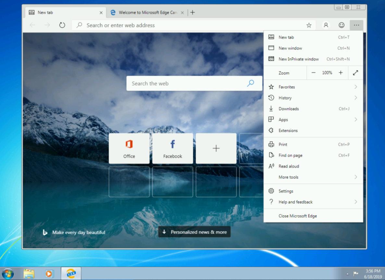 Edge Chromium para Windows 7