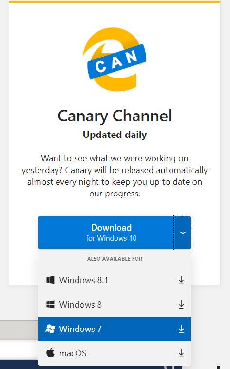 Ya puedes probar el Microsoft Edge Chromium para Windows 7 y Windows 8.1 39