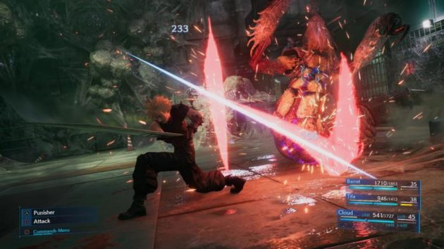 Final Fantasy VII Remake Combate