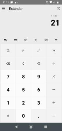 Uno Calculator (calculadora de Windows portada a Android)