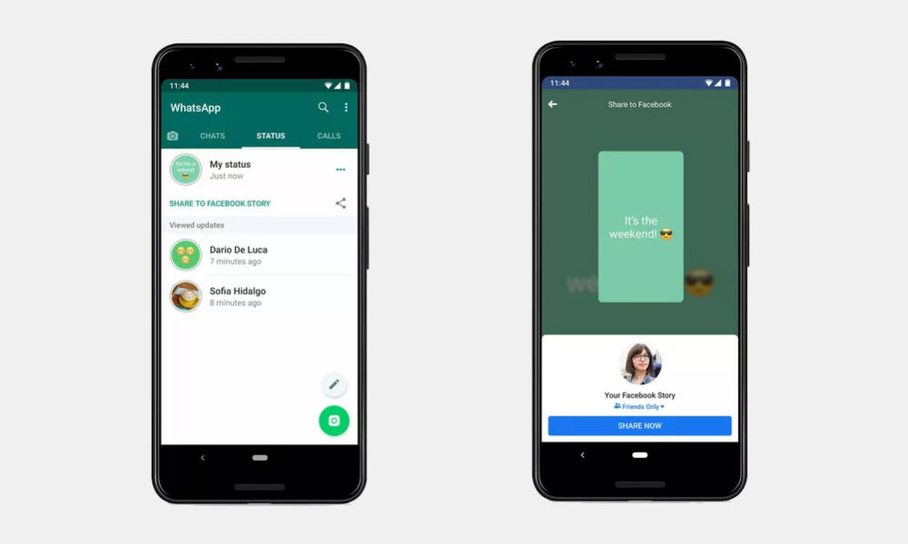 WhatsApp Compartir Estados Facebook
