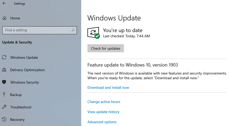 Windows 10 May 2019 Update ya está disponible en Windows Update para todos los usuarios 32