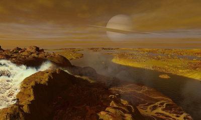 superficie de Titán (representación artística)