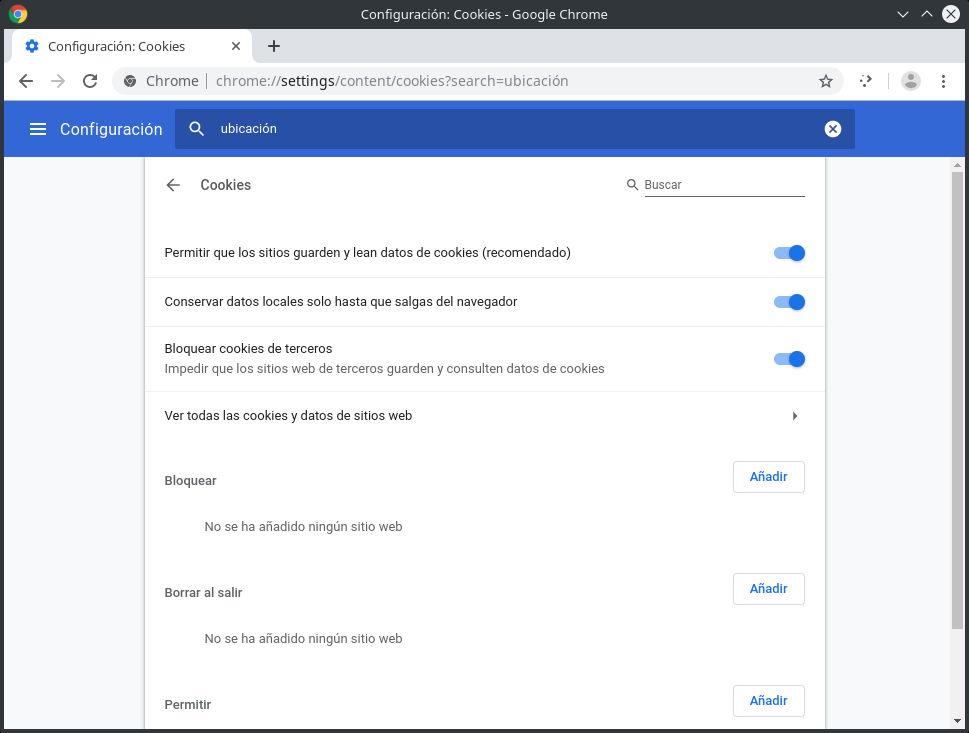 Recomendaciones para gestionar las cookies en Google Chrome