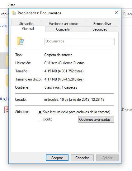 Comprobar el tamaño y la cantidad de ficheros que tiene una carpeta en Windows