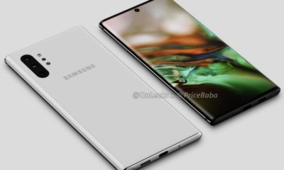 diseño del Galaxy Note 10