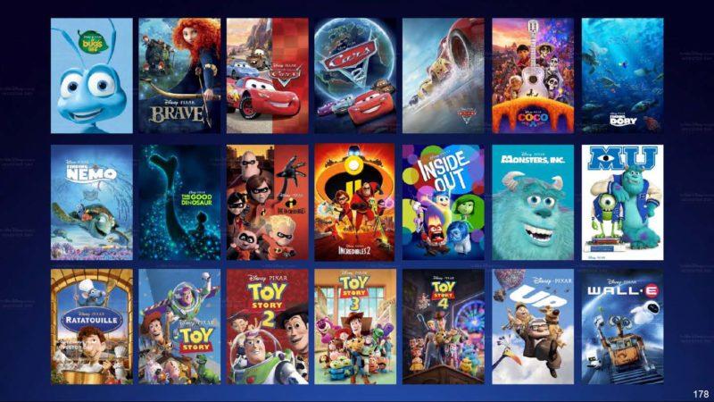 Disney+ películas Pixar