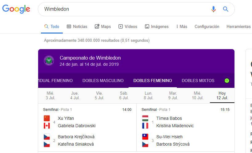 juego de tenis Google