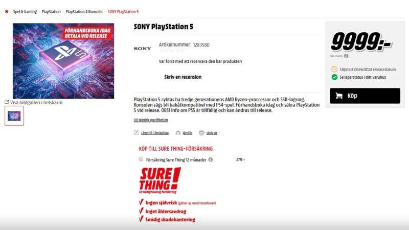 PS5 MediaMarkt Precio