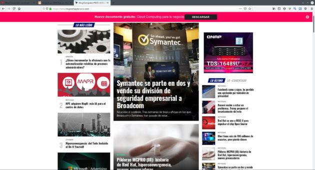 Fuentes de MuyComputerPRO cargadas correctamente en Firefox para Linux