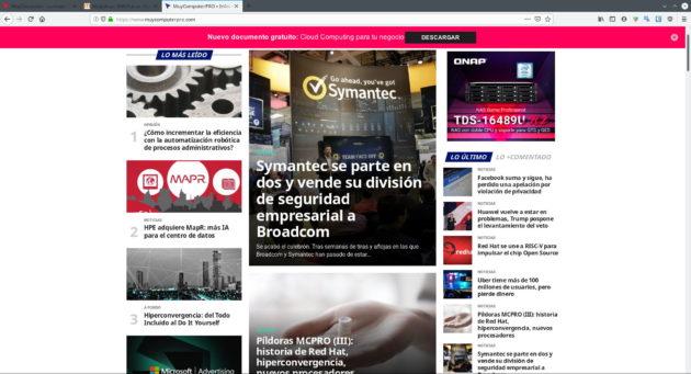Fuentes de MuyComputerPRO cargadas incorrectamente en Firefox para Linux