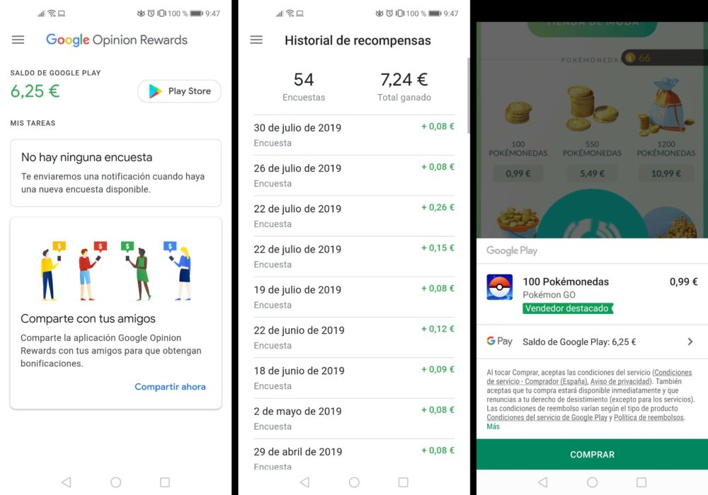 Ganar dinero con Google Opinion Rewards