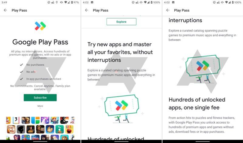 Google Play Pass Juegos y Apps