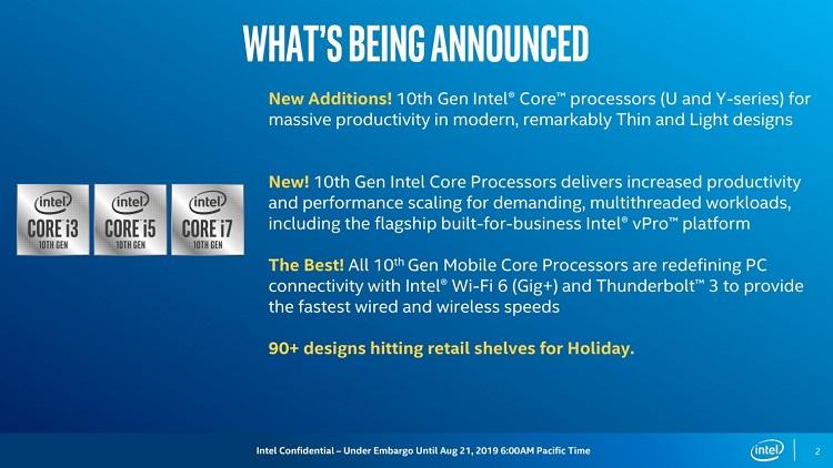 Intel presenta los procesadores Comet Lake de bajo consumo en proceso de 14 nm 31